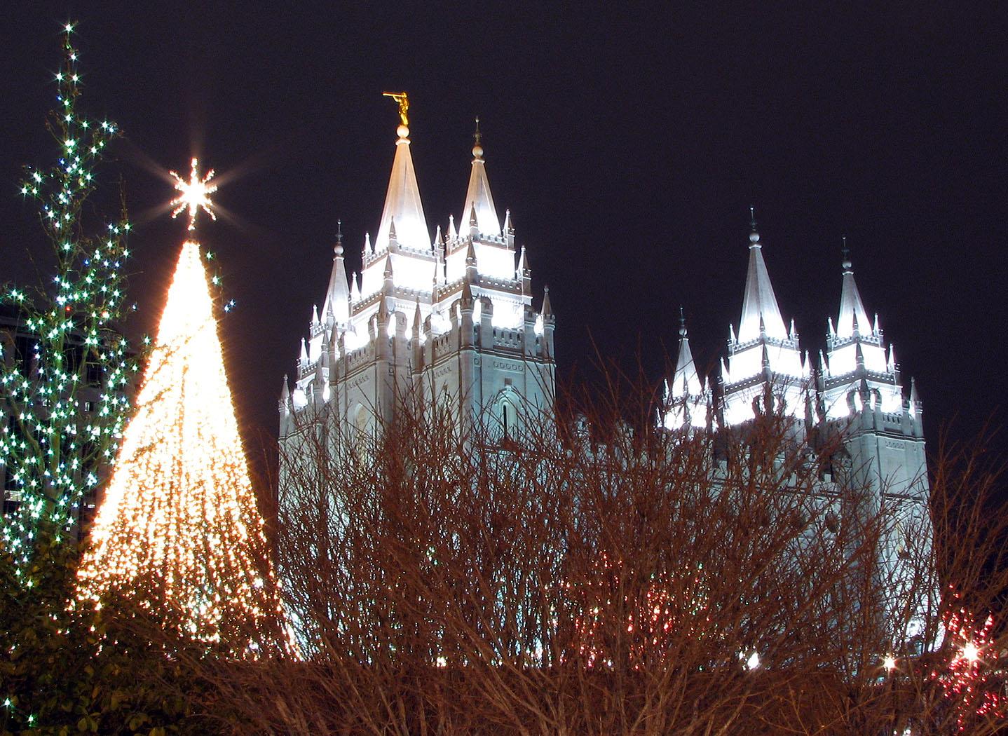Mormon Temple Christmas Lights Salt Lake City