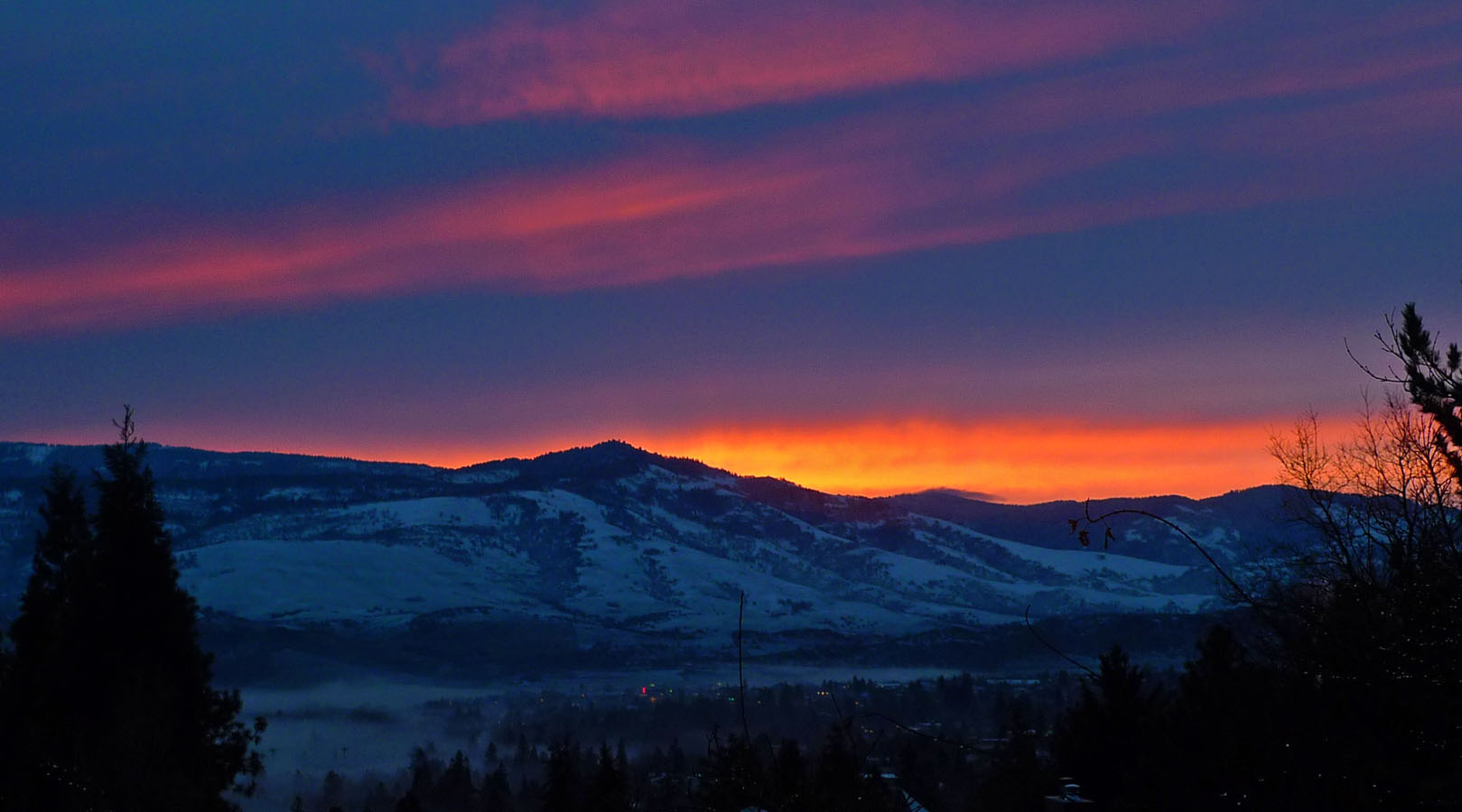 Images For > Snowy Mountain Sunrise