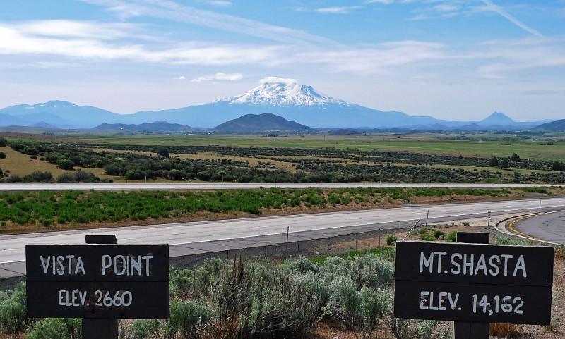 mt. shasta vista point I-5