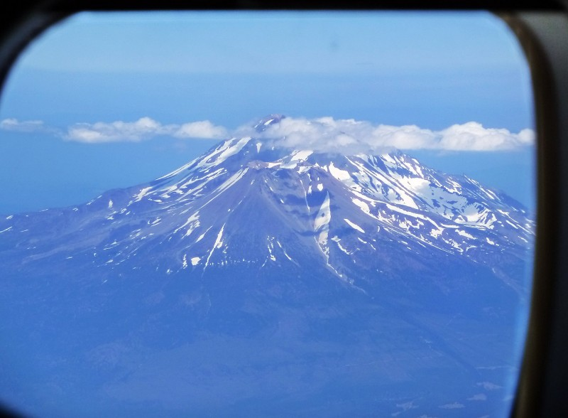 mount shasta california aerial photography