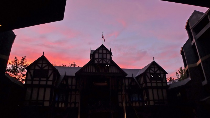 sunset over the oregon shakespeare festival