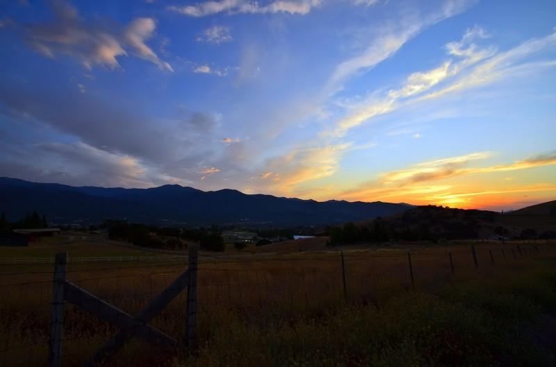 ashland oregon sunset