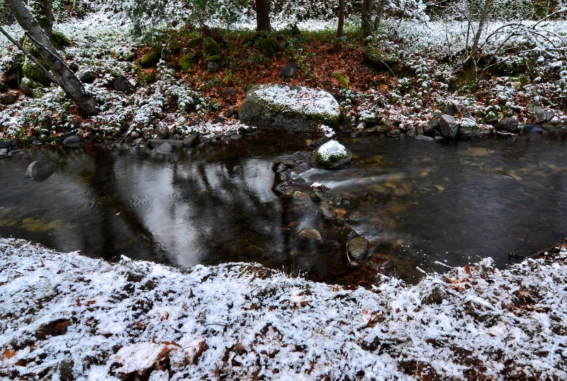 snow winter ashland oregon creek lithia park