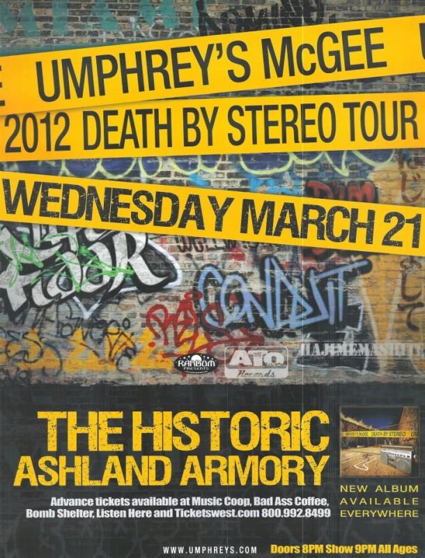 umphrey's mcgee tour poster