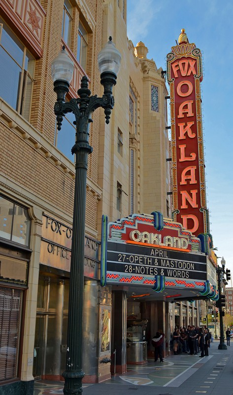 fox oakland marquee signs opeth mastodon california national register historic places