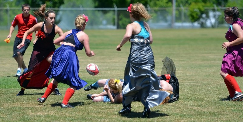 tacky prom dress rugby girls