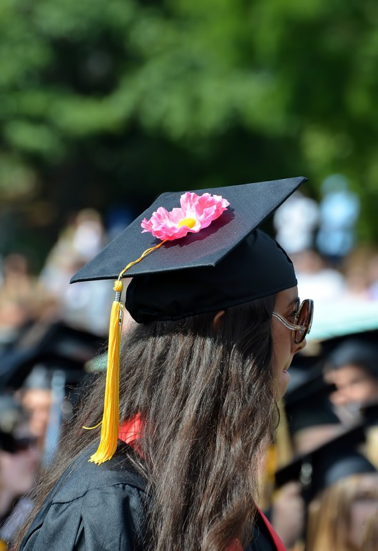 flower graduation cap decoration idea