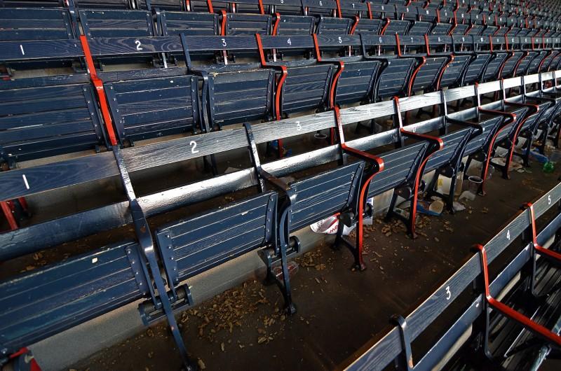 peanuts fenway park grandstand boston