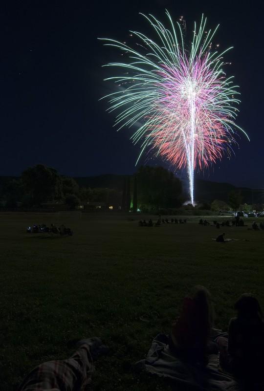 4th of july fireworks ashland oregon iowa street