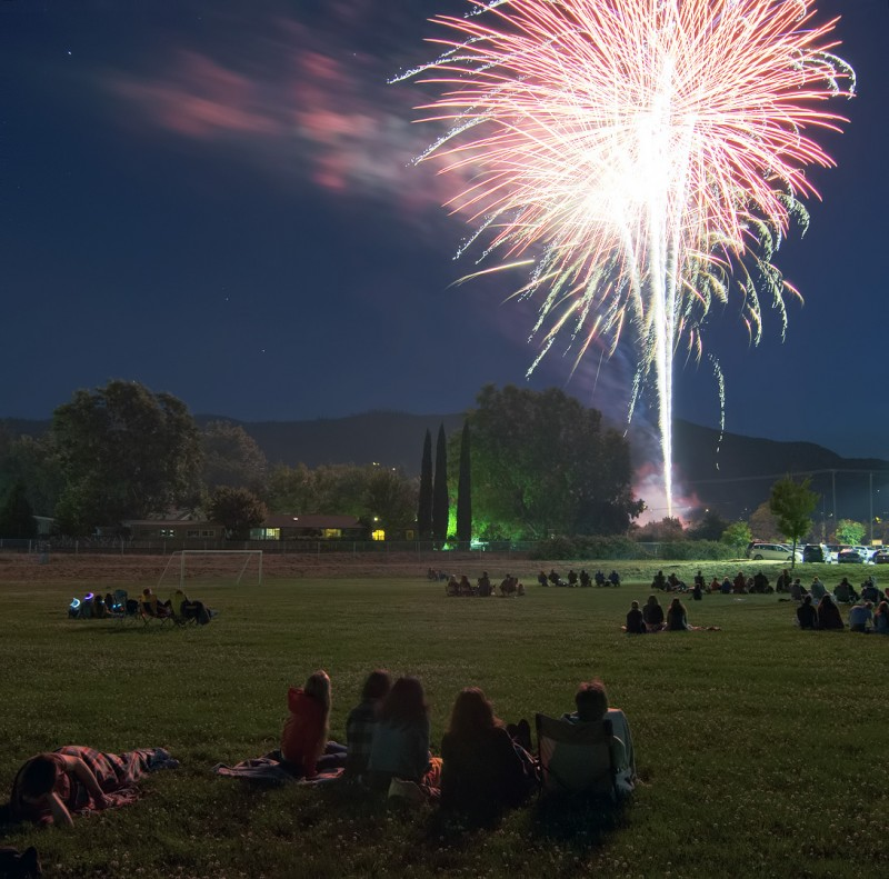 ashland middle school iowa street softball fields oregon firework display