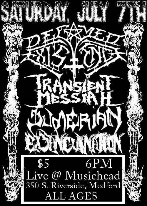 sumerian bill medford saturday july 7 2012 Exsanguination transient messiah musichead