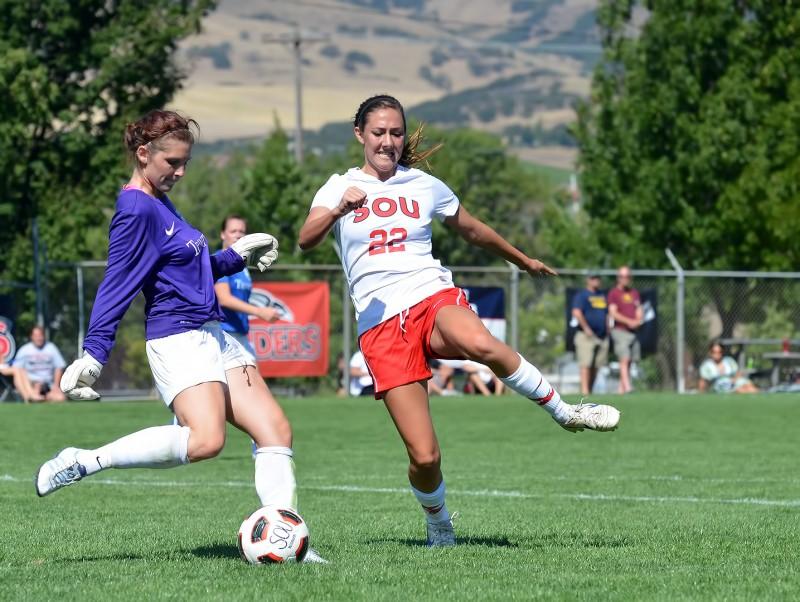Southern Oregon University women's soccer Megan McArthur Trinity Lutheran