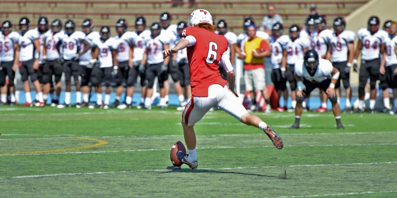 Colin Amsler southern oregon university kicker