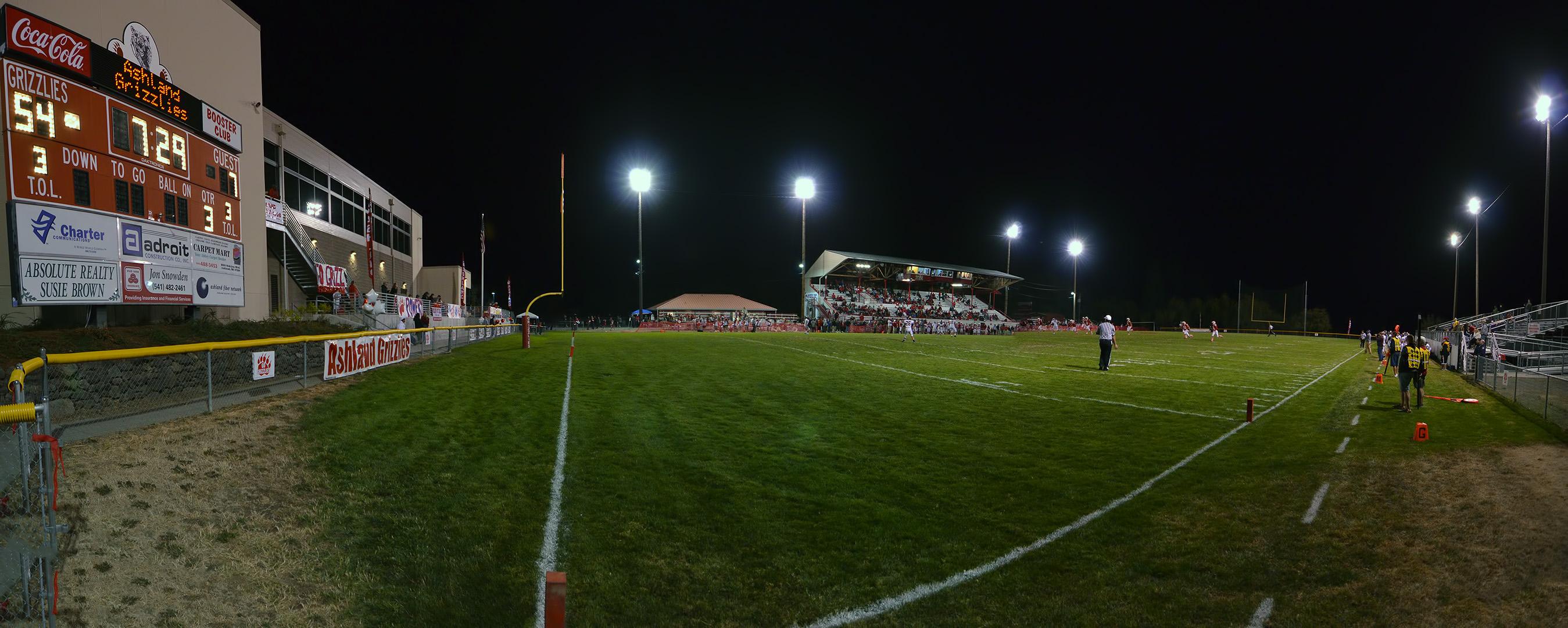 Football Stadium Lights Background