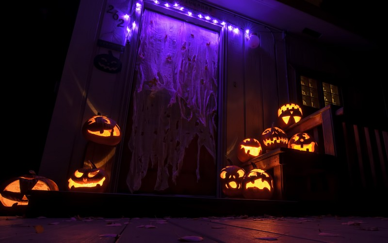 night halloween photography decorations house home trimmings