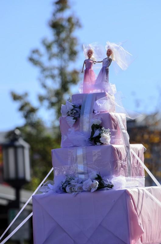 female marriage gay parade sopride ashland oregon