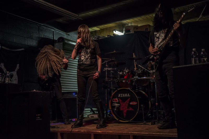 oregon black metal band witch cult live at musichead in medford