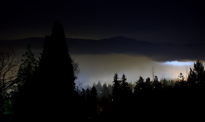 glowing fog ashland oregon