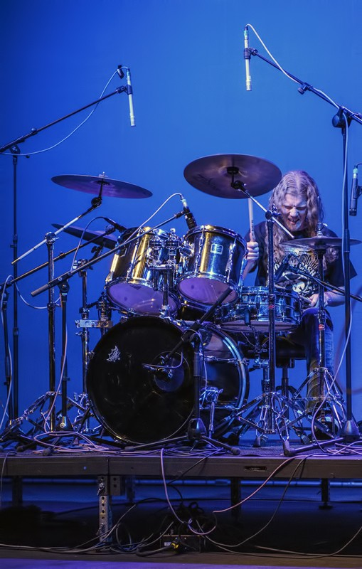 John Raden drummer drums the dead americans mcdonald theatre