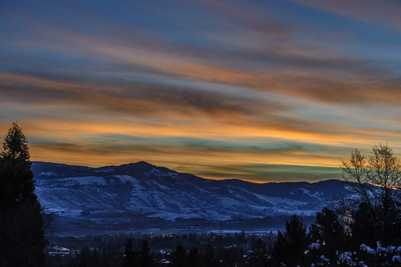frozen ashland sunrise