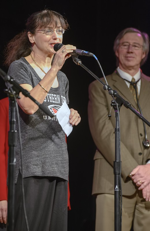 "SOU President Mary Cullinan, one of many ""Community Protectors"" southern oregon university"