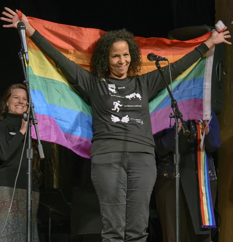 Gina DuQuenne of sopride southern oregon pride gay lesbian