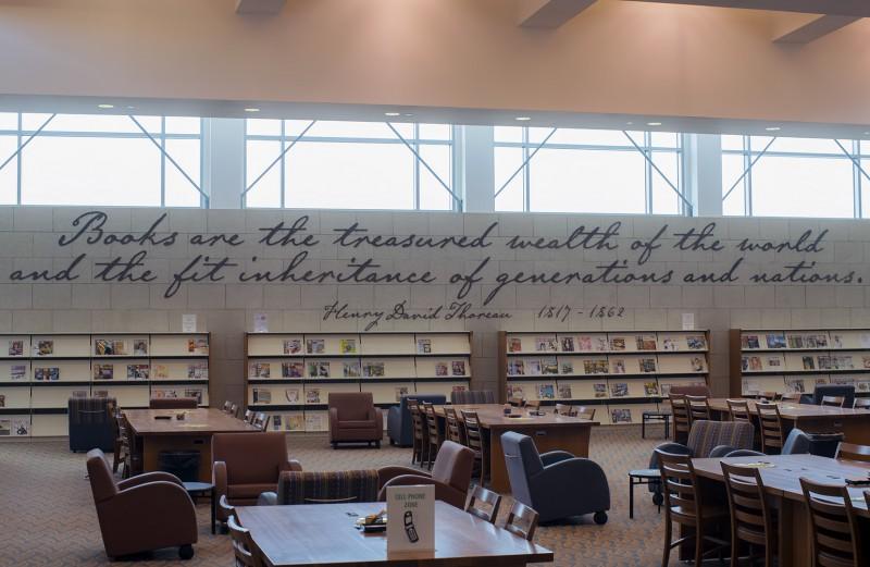 medford library thoreau quote