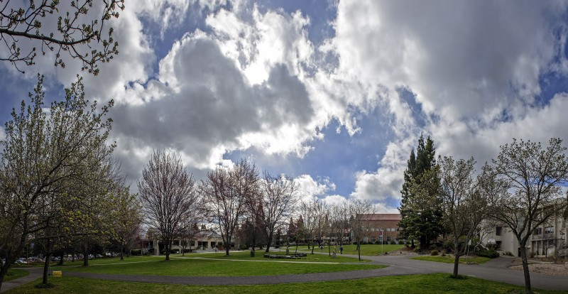 photomerge SOU campus storm panorama