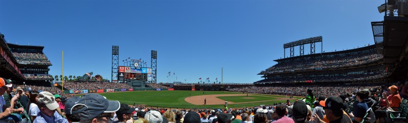 at&t park san francisco panorama a's giants