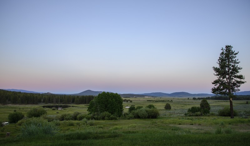 dusk sunset ranch oregon