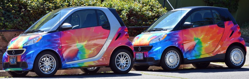smart automobiles tie dyed smartcar smart car dye