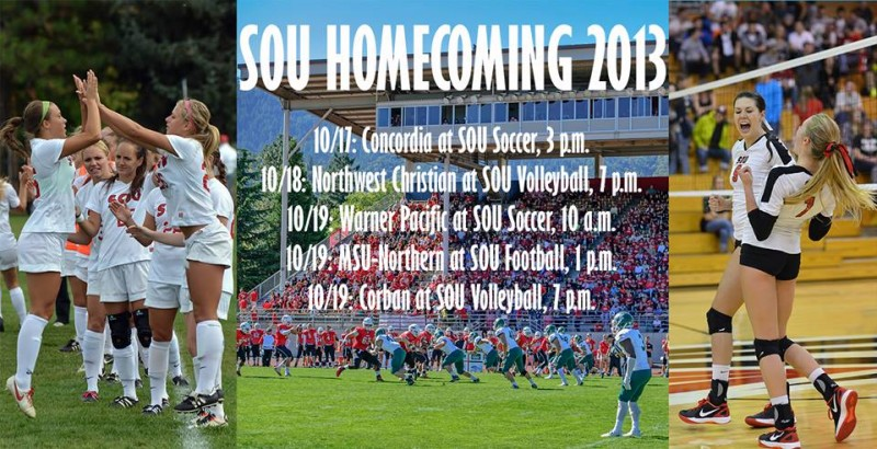 Southern Oregon University Homecoming 2013 sports events