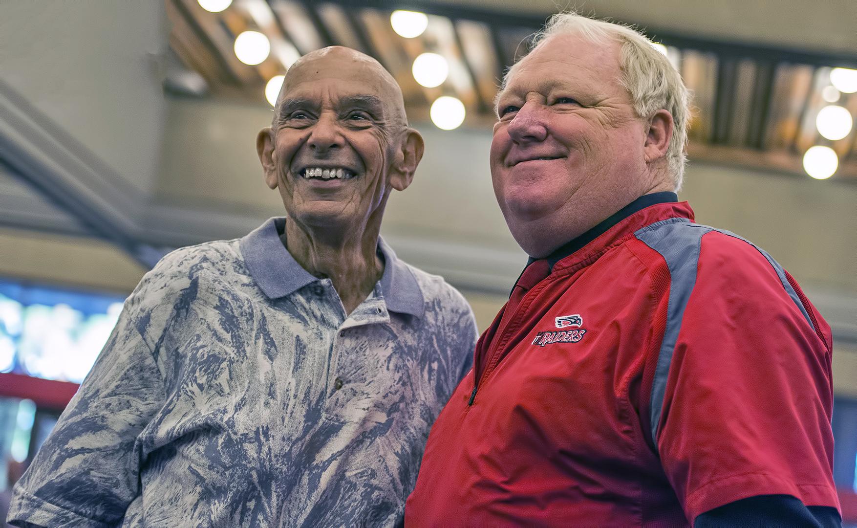 Chuck Mills and Craig Howard SOU head football coaches