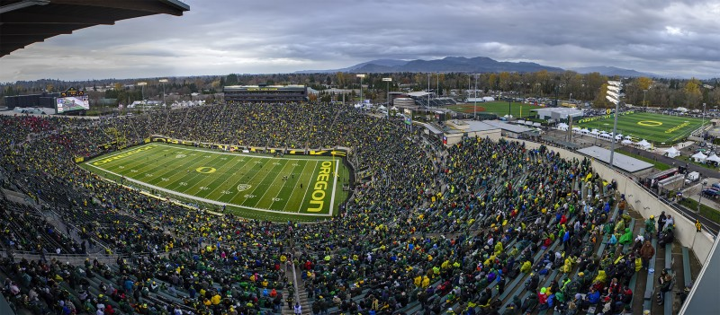 photomerge autzen stadium pk park pape field panorama