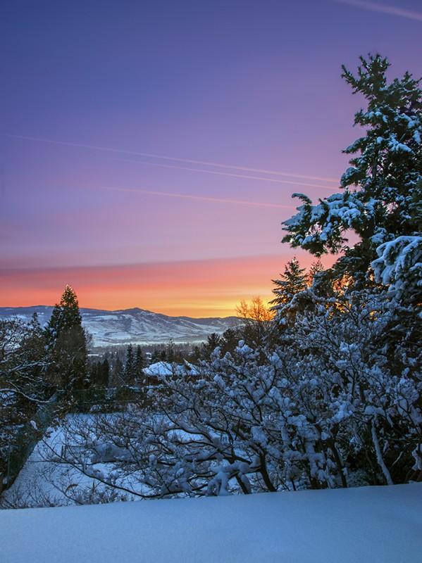 snowy ashland sunrise