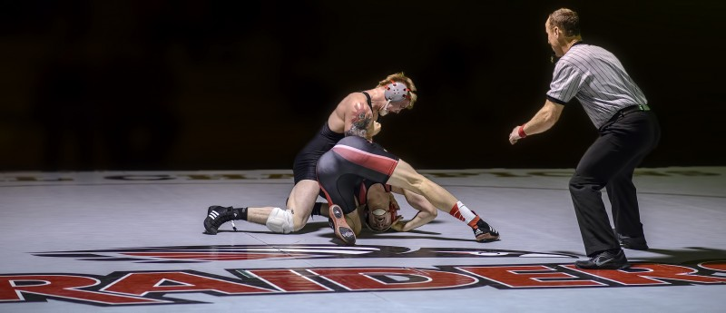SOU wrestling brock gutches simpson brady beamon blackened crowd