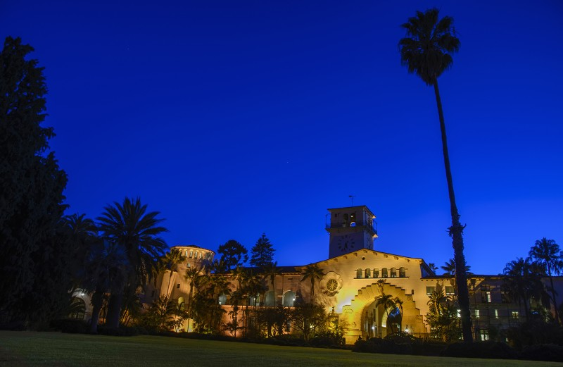 santa barbara courthouse blue hour