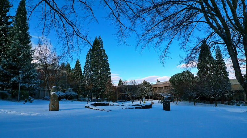 SOU snow southern oregon university winter