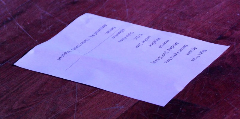 The Delineators club 66 april 30 2013 setlist