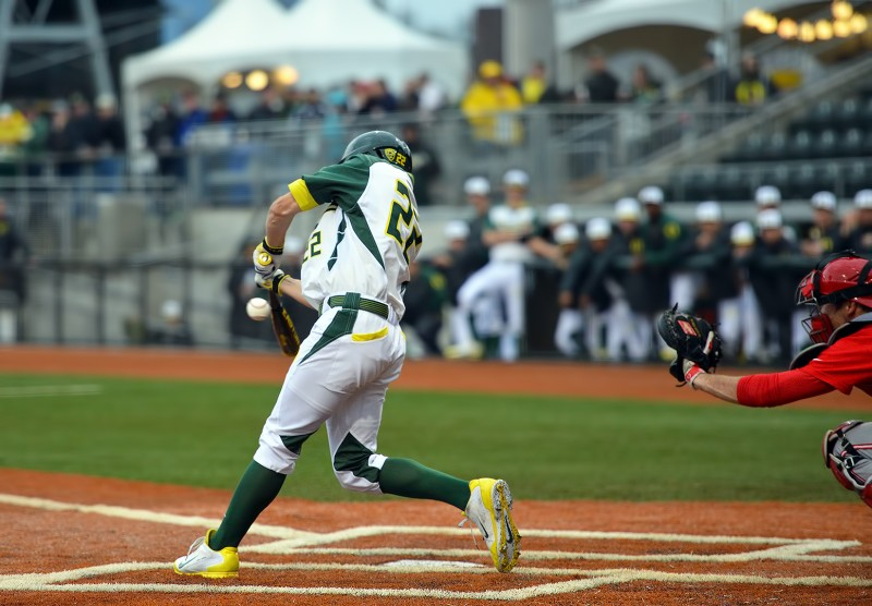 Oregon Ducks Baseball Austin Grebeck
