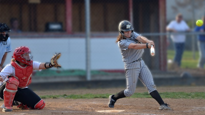 SOU Softball OIT Tori Weatherford home run with blur