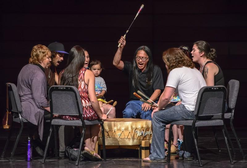 native american pow wow drum circle sou international show