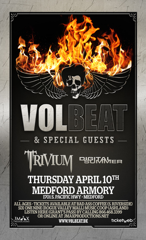 Volbeat, Trivium, and Digital Summer @ Medford Armory - April 10, 2014