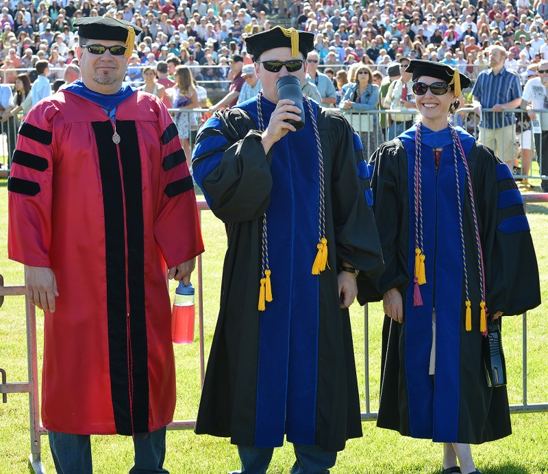 criminology dave carter alison burke brian fedorik sou graduation commencement