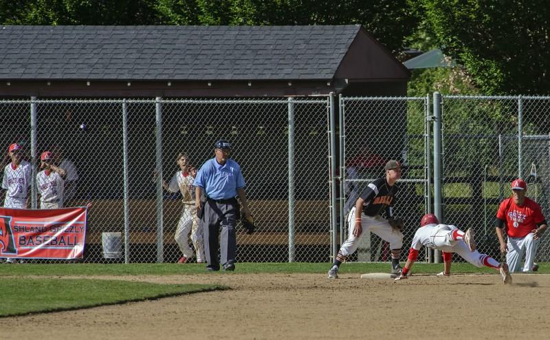 AHS baseball Eric Carlson triple
