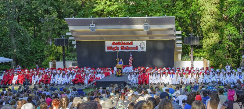 AHS graduation photomerge panorama