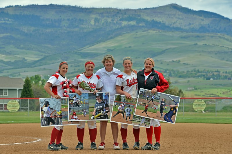 SOU Softball Senior Day Ashley Lowe Julia Willison Coach Kim Fritts Sierra Anderson Karlie Stephens