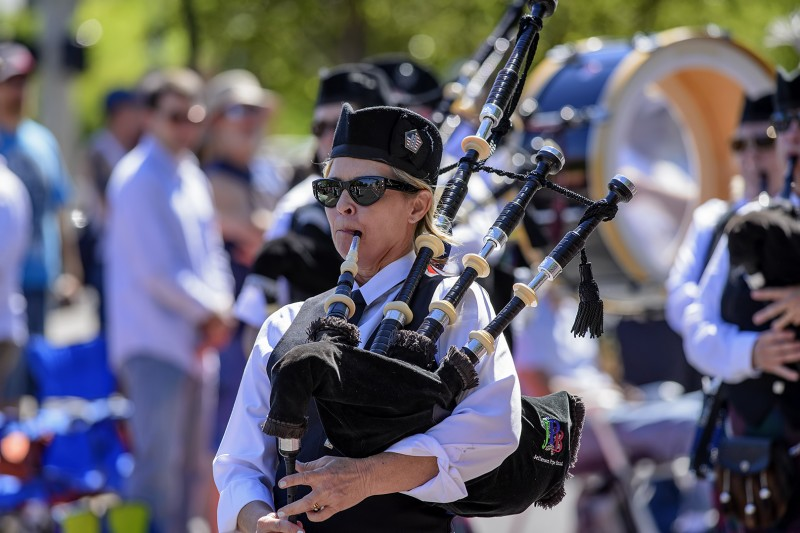 ashland 4th of july parade bag pipes female