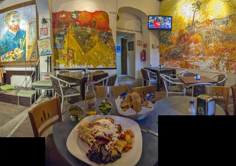 photomerge van gogh restaurant guanajuato