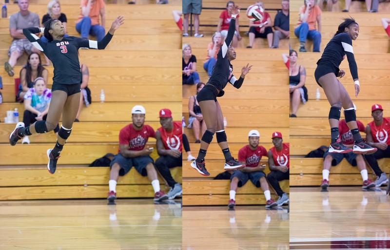 SOU volleyball Motade Atanda sequence